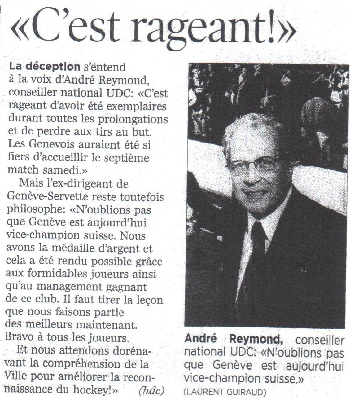 Genève est vice-champion suisse (GSHC)